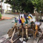 沖縄リトリート:3日目フェザーワンドつくりと地球への感謝のセレモニー