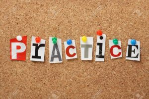 25793758-the-word-practice-in-cut-out-magazine-letters-pinned-to-a-cork-notice-board-stock-photo