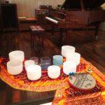 クリスタルボウルとピアノコラボリサイタル大盛況でした